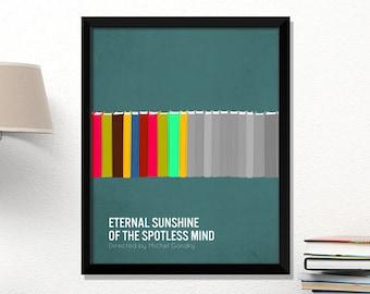 Eternal Sunshine movie poster, Eternal Sunshine of the Spotless Mind, minimalist, cinema, Eternal Sunshine, contemporary art