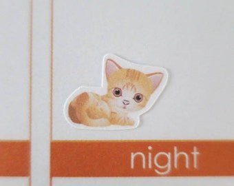 60 Cat Stickers | Planner Stickers designed for use with the Erin Condren Life Planner | 0121