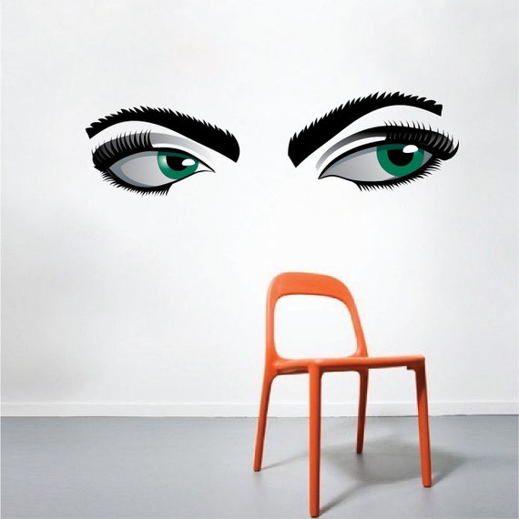 Wall Art Stickers Eyes : Mystery eyes wall decal wallpaper vinyl