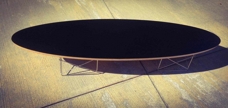 Eames Surfboard Black Coffee Table Mid Century Modern Haute Juice