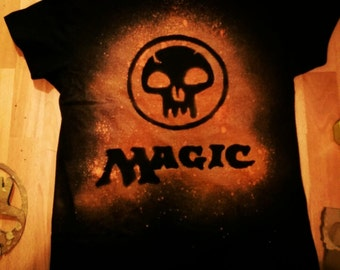 Magic The Gathering Black Mana Shirt.
