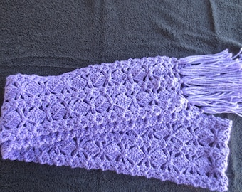 Warm Long Winter Scarf, in Lovely Lilac