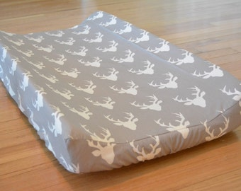 Changing Pad Cover - Baby Boy nursery, Woodland Rustic