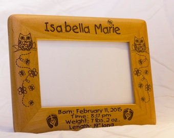 personalized photo frame engraved wood frame baby gift custom engraved frame personalized - Engraved Picture Frame