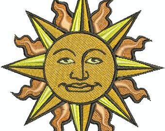 Digital Embroidery Design - Sun