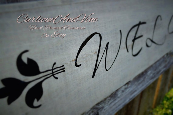 Pallet Wood Sign - Welcome