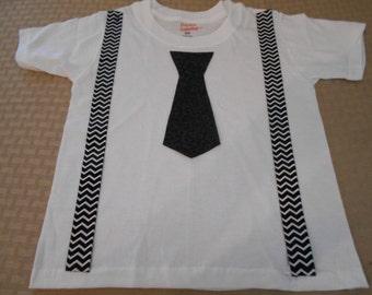 Formal Attire Toddler Black Tie Event Suspenders Shirt