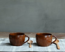 Wood cup, wooden cup, tableware, drinkware, coffee cup, tea cup, cup in handmade, handle wood cup, free shipping wood cup, wood mug, natural