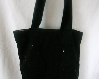 Bag with black sequins