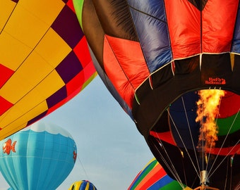 Hot Air Affair/color photo/hot air ballons/early morning ballon race/whimsy
