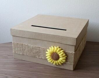 Wedding Card Box, Rustic Card Money Box