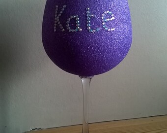 1 x Personalised XL Wine Glass