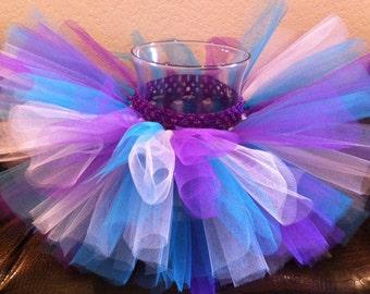 Purple turquoise white tutu, colorful tutu, birthday tutu, baby tutu, toddler tutu, newborn tutu, photo