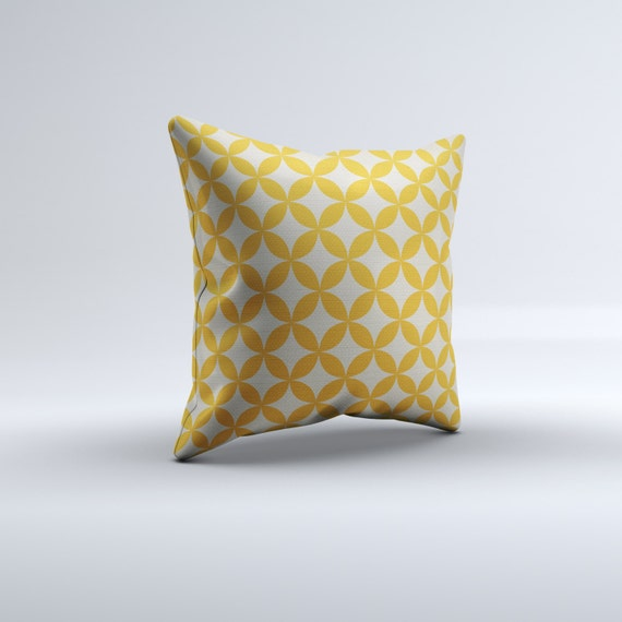 mustard throw pillow modern throw pillow yellow throw