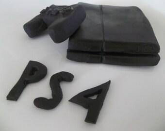 PS4 Fondant topper/ Fondant Edible CupcakeToppers - 3D PS4