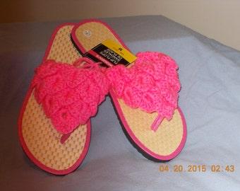 Bright Pink Flip Flop