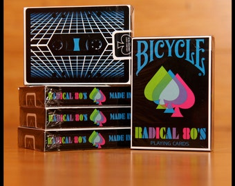Radical 80's Bicycle playing cards.