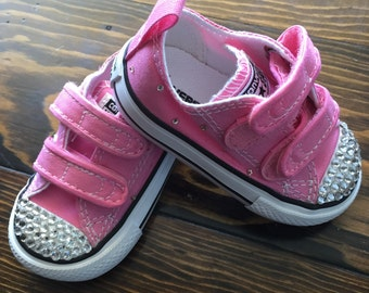 Pink Bling Converse, No Lace
