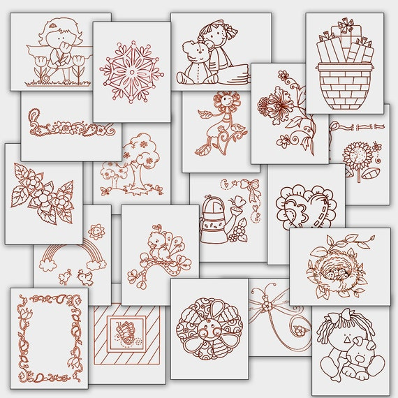 Sale fun hand embroidery patterns redwork designs