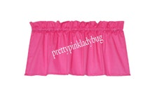 Hot Pink Window Curtain Valance Solid Color Will Brighten