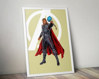 Thor, Avengers, Digital illustration - Instant Download Digital File