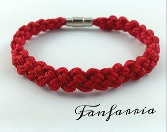 Braided Bracelet, Friendship Bracelet, Red Bracelet  NB001301