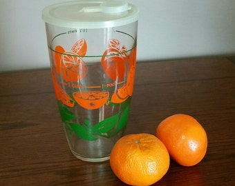 Vintage Libbey Glass Juice Carafe, 1970s Glassware, Collectible Libbey Juice Jar