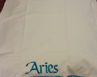 Aries pillowcase: standard size, 100%cotton 200 thread count.