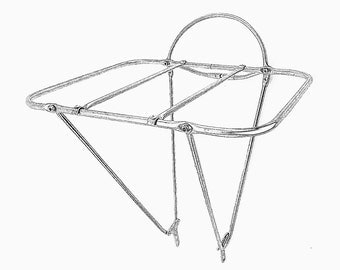 stainless steel bicycle front porteur rack