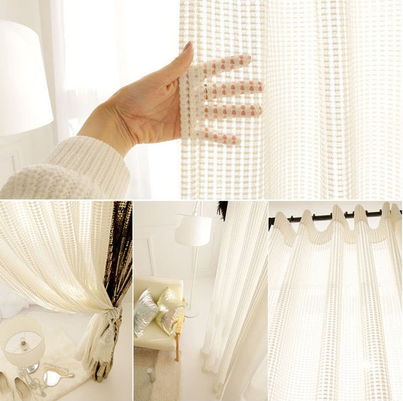 white mesh with sparkle gold squared sheer curtain by enapremium. Black Bedroom Furniture Sets. Home Design Ideas