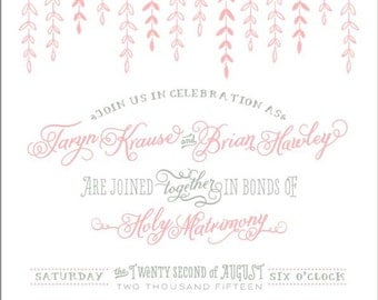Rainbow Ranch Wedding Invitation