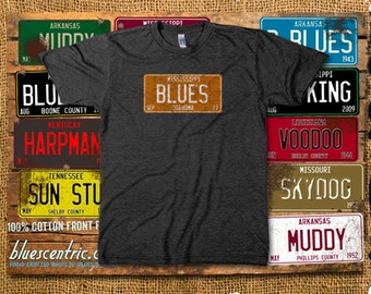 Mississippi Blues License Plate T-Shirt