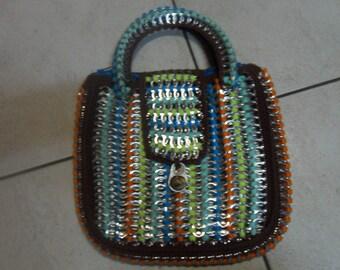 handbag in retro colors