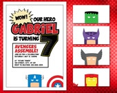 Avengers Birthday Invitations for the Little Hero in Your Life!