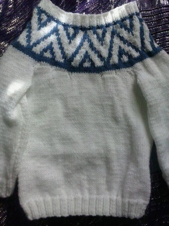 Knitting Pattern For Katie Morag Jumper : Katie Morag Fair Isle Jumper Fair Isle Knitted by Woollylicious