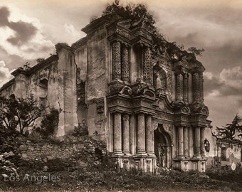 "Eadweard Muybridge Photo, ""Ruins in Antigua, Guatemala"" 1880s"