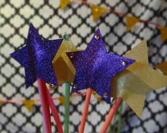 Princess Star Wand Party Favors Set of 4 - MINI Pixy Stix Star Wand