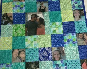 Custom Photo Memory Quilt