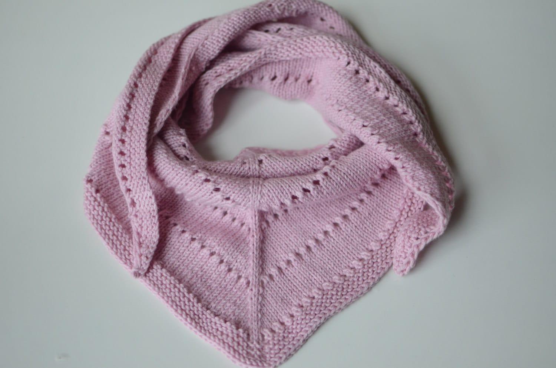 Baby Scarves Knit Pattern : Knitted Girl Bandana Bib Pink Baby Girl Bandana Scarf