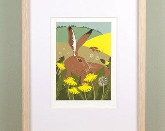 Hare and Dandelions Giclée Print - Limited Edition