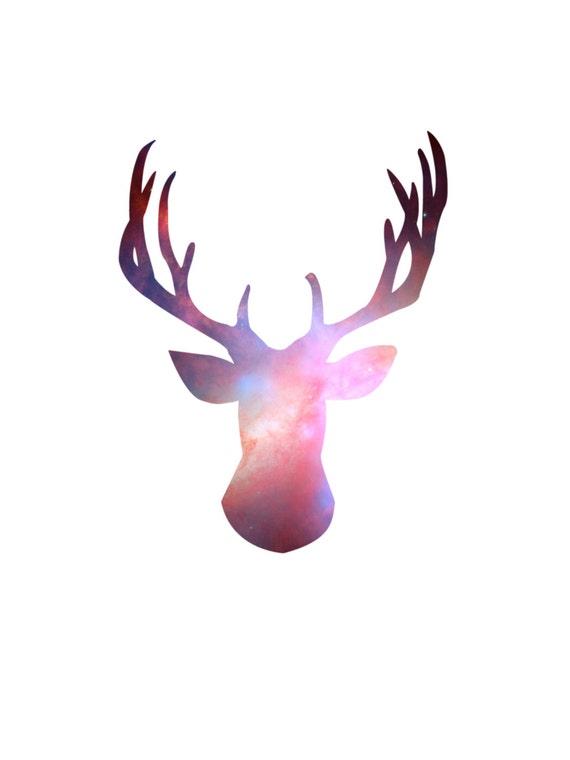 Deer Head Wall Art deer head print stag print deer head wall art stag wall