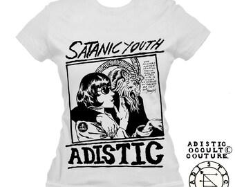 Satanic Youth Female tee (sonic youth Inspired)