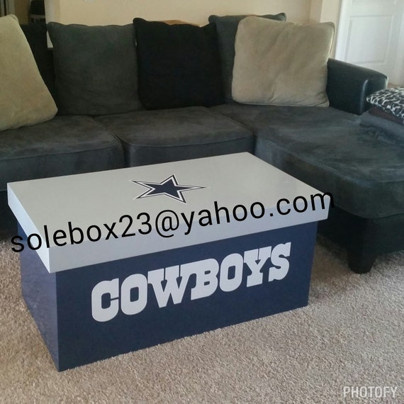 Custom Dallas Cowboys Coffee Table By Soleboxes On Etsy