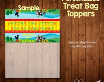 MICKEY MOUSE CLUBHOUSE Birthday treat bag toppers- Digital File