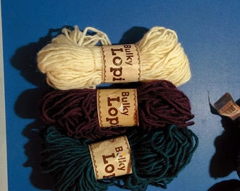 Dark blue Bulky Lopy Pure Wool from Iceland