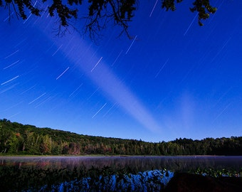 Night Photography, Star Photography, Star Trails, Adirondack Mountains, Lake Harris, Nature Photography, Nighttime Photo, Adirondack Decor