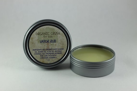 Vapor Rub For Babies Amp Kids 1 Oz By Organiccrushshop On Etsy