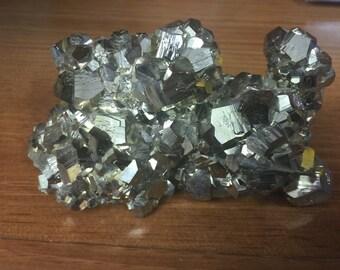 Gorgeous Large Pyrite Pentagonal Cluster