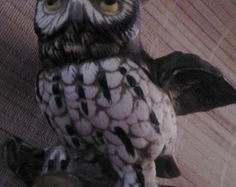 Great Horned Owl Figurine-Homco