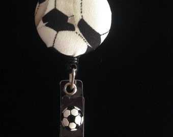 Soccer Badge -Nurse Retractable ID Badge Reel/ RN Badge Holder/Doctor Badge Reel/Nurse Badge Holder/Student Nurse badge reel/ nursing gift/